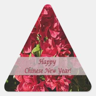 Etiqueta vermelha chinesa de Triang dos