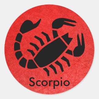 Etiqueta vermelha da astrologia do zodíaco do