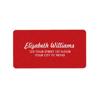 Etiqueta vermelha da textura elegante simples