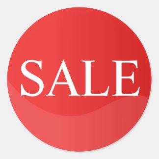 Etiqueta vermelha da venda para o negócio adesivo