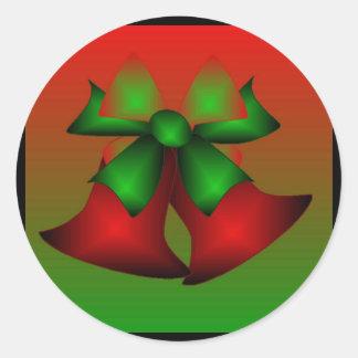 Etiqueta vermelha de Bels III do Natal - Adesivo