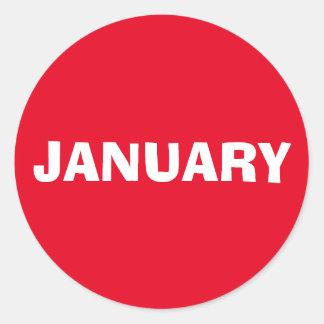 Etiqueta vermelha de improviso de janeiro por Janz