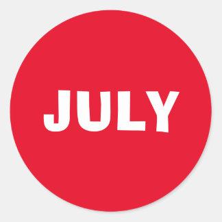 Etiqueta vermelha de improviso de julho por Janz