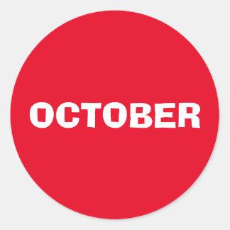 Etiqueta vermelha de improviso de outubro por Janz