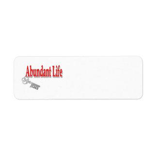 Etiqueta Vida abundante: A chave - v1 (10:10 de John)