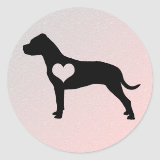 Etiquetas americanas do coração de Terrier de Adesivo