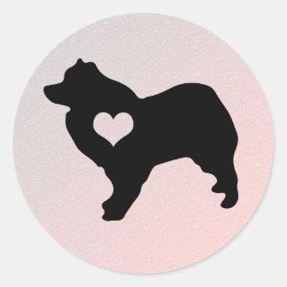 Etiquetas americanas do coração do cão Eskimo Adesivo