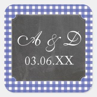 Etiquetas azuis das etiquetas do casamento da