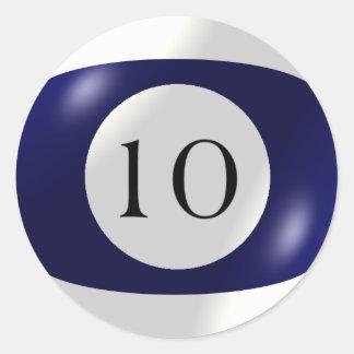 Etiquetas - bilhar - bola 10