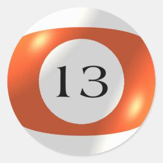 Etiquetas - bilhar - bola 13