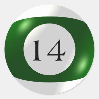 Etiquetas - bilhar - bola 14