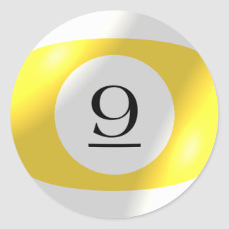 Etiquetas - bilhar - bola 9