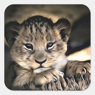 Etiquetas bonitos de Cub de leão do bebê