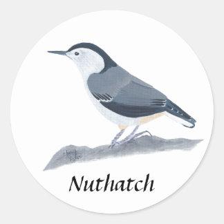 Etiquetas brancas da pintura do pássaro do adesivo