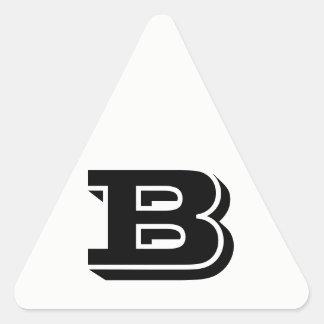 Etiquetas brancas do triângulo da letra B Vineta