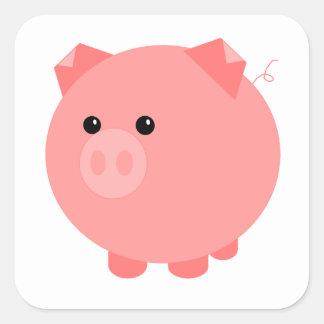 Etiquetas carnudos bonitos do porco