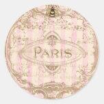 Etiquetas chiques de Tre Paris ou selos do Adesivo Redondo
