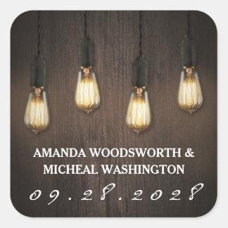 Etiquetas chiques do favor do casamento das luzes