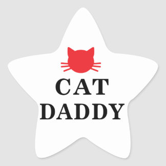Etiquetas da estrela do pai do gato