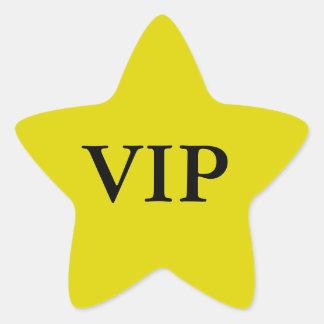 Etiquetas da estrela do VIP