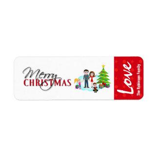 Etiquetas da etiqueta do presente do Natal Etiqueta Endereço De Retorno