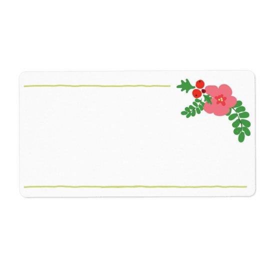 Etiquetas da flora do Natal Etiqueta De Frete
