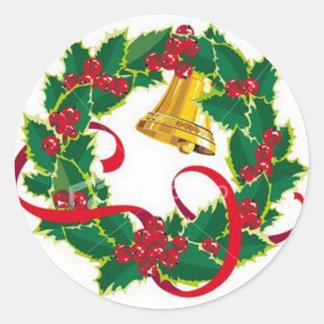 Etiquetas da grinalda do Natal Adesivos Redondos