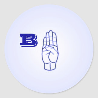 Etiquetas da letra B do linguagem gestual grandes