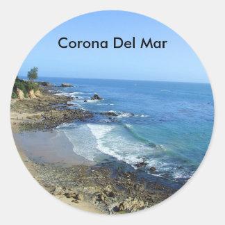 Etiquetas da praia de Corona del Mar Califórnia Adesivo