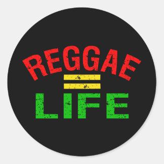 Etiquetas da reggae adesivos em formato redondos