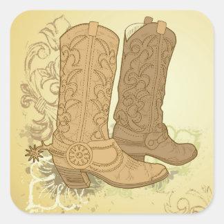 Etiquetas das botas de vaqueiro