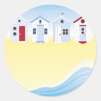 Etiquetas das cabanas da praia