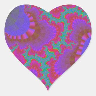 Etiquetas das caraíbas do coração da engrenagem do