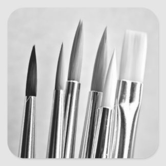 Etiquetas das escovas de pintura do artista