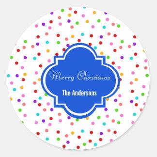 Etiquetas das etiquetas do feriado do Feliz Natal Adesivo