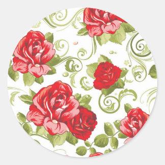 Etiquetas das rosas vermelhas adesivo