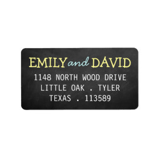Etiquetas de casamento modernas da tipografia do etiqueta de endereço