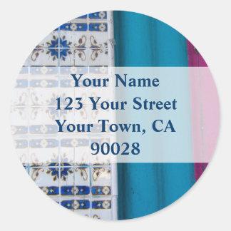 Etiquetas de endereço abstratas do azulejo adesivo