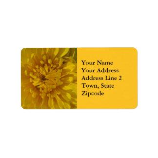 Etiquetas de endereço amarelas da flor do etiqueta de endereço