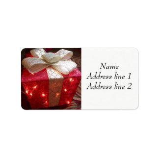 Etiquetas de endereço atuais etiqueta de endereço