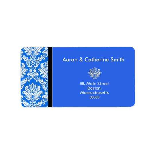Etiquetas de endereço azuis customizáveis do damas etiqueta de endereço