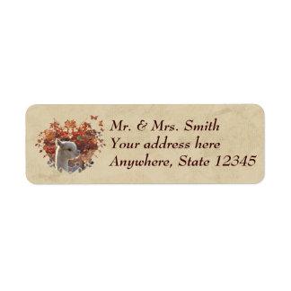 Etiquetas de endereço da alpaca etiqueta endereço de retorno