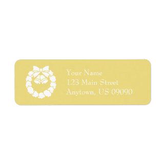 Etiquetas de endereço da grinalda do Natal (ouro)