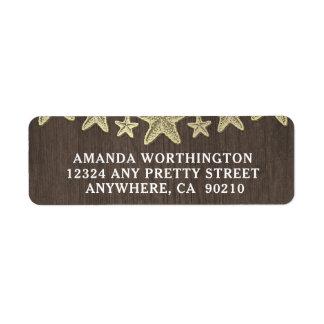 Etiquetas de endereço de madeira do casamento da etiqueta endereço de retorno