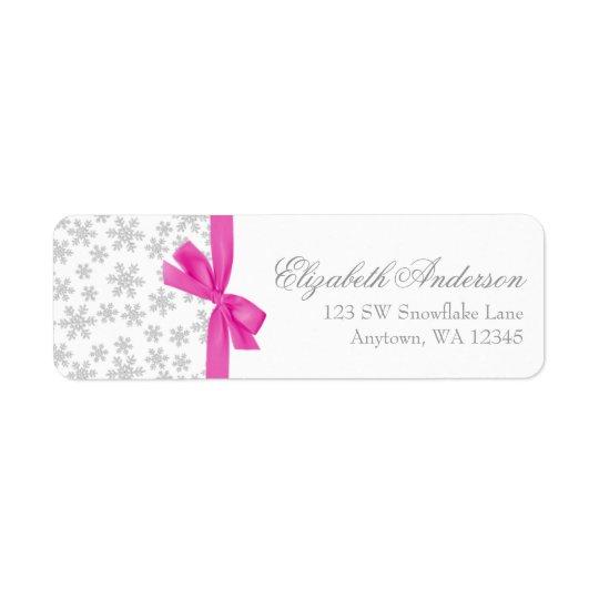 Etiquetas de endereço de prata do arco do rosa dos etiqueta endereço de retorno
