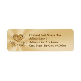 Etiquetas de endereço do aniversário do diamante etiqueta endereço de retorno