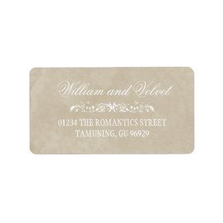Etiquetas de endereço do casamento da aguarela etiqueta de endereço