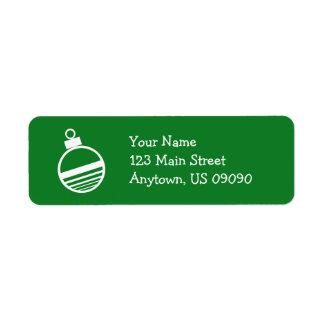 Etiquetas de endereço do ornamento da árvore de Na Etiqueta Endereço De Retorno
