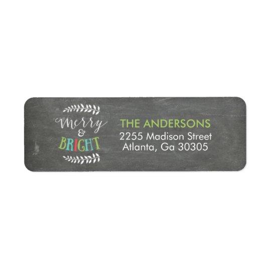 Etiquetas de endereço do remetente alegres e etiqueta endereço de retorno