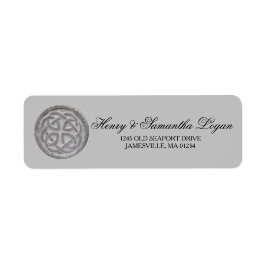 Etiquetas de endereço do remetente celtas rústicas etiqueta endereço de retorno